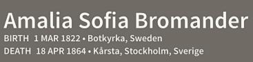 Amalia Sofia Bromander