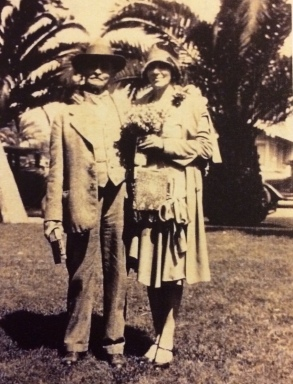 Leonard James Winney and his sister Maud Marie Winney Owen_Anaheim 1925_cropped